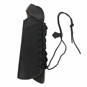 Outdoor Cow Leather Shooting Archery Arm Guard Bow Protect Gear with Straps