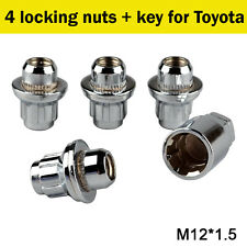 4+1 QUALITY WHEEL LOCKING NUTS FLAT SEAT SECURITY LUG BOLTS FOR TOYOTA (M12x1.5)