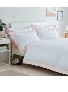 DUSK Positano King Size Duvet Cover No Pillow Case Bedding Set White/Pink