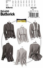 Butterick Sewing Pattern B6400 Women 6-14 Victorian Jacket Costume History 6400