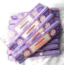 12 Pack Satya Nagchampa LAVENDER  je 15g (180g,100g=7,71 €) Räucherstäbchen