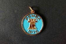 Vintage Bowling Enamel Necklace Charm Award Pennsylvania PSWBA 1976 Liberty Bell
