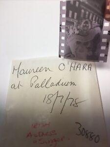 Maureen O'Hara.  Irish Actress .  1978. 1x1. Vintage Original Negative .