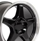 17x9.5 Rims Fit Corvette Camaro Zr1 Wheels Black Machined Wheels Set Of 4