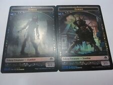 ELDRITCH MOON PRERELEASE ZOMBIE TOKEN FOIL x 1 - DOUBLE SIDED *MINT* MAGIC MTG