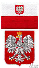 LOT POLAND FLAG SHIELD BIKER PATCH EMBROIDERED IRON-ON COAT ARMS POLSKA POLISH