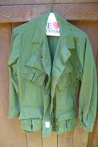 US MILITARY ARMY Vietnam Tropical Combat Coat Med Regular DSA 100-2461 Poplin