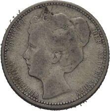 Niderlande Wilhelmina 25 Cent 1904 Silber 3,5 g   #MAM41