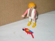 PLAYMOBIL  MAN PET COLOURFUL PARROT ZOO  PLAY FIGURE SIT  STAND ADD TO OTHER