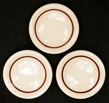 Set of 3 Vintage Individual Butter Pat Plate Saucer Restaurant Ware Railroad Old
