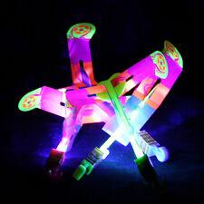5Pcs LED Light Large Plastic Slingshot Arrows Catapult Flash Rocket Kids Toy