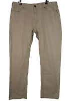 POLITIX | Protege Slim Straight Fit Stretchino Jeans Pants | Khaki | Size 36