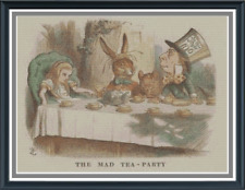 The Mad Tea Party | Alice in Wonderland Cross Stitch Pattern