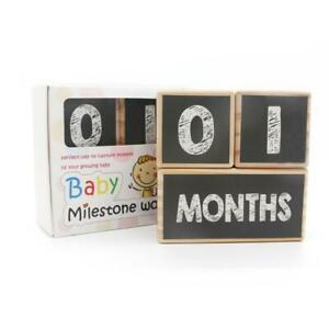 Baby Age Blocks Wooden Milestone Moments Photo Blocks Baby Room Decoration