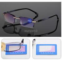 Mens Reading Glasses +1.0 1.50 2.0 2.5 3.0 3.5 4.00 Anti Blue Light Eyeglasses