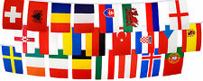 Euro 2016 Flag Bunting - 8m Length 24 Country Nations Teams Flags Pubs Bars IE