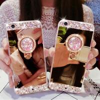 Bling Diamond Finger Ring Holder Shockproof Case Cover for iPhone X 5 6 7 8 Plus