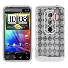 AMZER Luxe Argyle High Gloss TPU Soft Gel Skin Case For HTC EVO 3D - Clear