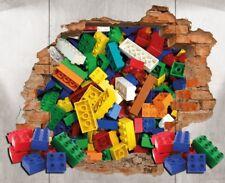Lego Brick Wall Decal 3D Art Stickers Vinyl Room Home Bedroom