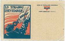 Italia Regno - FRANCHIGIA MILITARE :   LO STRAPPO INEVITABILE - M.L.