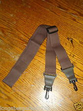 "NEW 60"" ADJUSTABLE SWIVEL CLIP BANJO NECK STRAP 2"" WIDE BROWN TENOR OR 5 STRING"