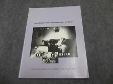 From Receiver To Remote Control The TV Set Book New Museum of Cont Art New York