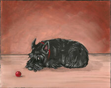 ACEO PRINT OF PAINTING SCOTTISH TERRIER SCOTTIE RYTA SCOTLAND DOG ART PORTRAIT