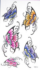King Horse Multicolor Butterflies Temporary Tattoos #HM363 New Arrival!!