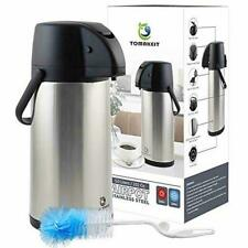 TOMAKEIT Airpot Coffee Carafe Thermos 3L(102 Oz) Insulated Stainless Steel Large