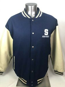 PENN STATE UNIVERSITY NITTANY LIONS RETRO CHAMPS WOOL SNAP-UP JACKET ADULT 2XL