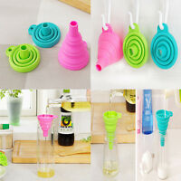 Silicone Gel Practical Collapsible Foldable Funnel Hopper Kitchen Tool OYAC b