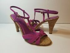 Coach Purple Strappy Sandals - Size 8.5B