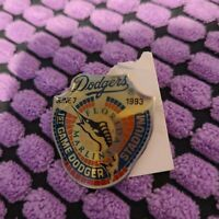 VINTAGE L.A. DODGERS UNOCAL PIN - 1ST GAME DODGER STADIUM JUNE 7 1993