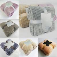 Home Coral Velvet Soft Warm Fleece Blanket Throw Rug Sofa Bed Throwover S-2XL