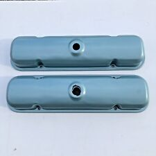 67-81 Pontiac Valve covers steel painted Pontiac blue Valve Covers with Drippers