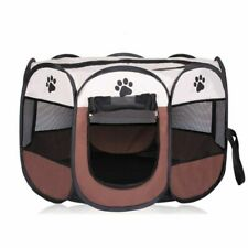 Portable Folding Dog House Cage Playpen Puppy Kennel Easy Operation Pet Beds New