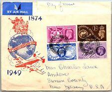 Gp Goldpath: Great Britain Cover 1949 Air Mail _Cv622_P07