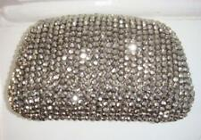 W LK L.K. BENNETT URBAN SILVER PEWTER BEAD BEADED MINAUDIERE PURSE CLUTCH BAG