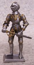 "Figurine Medieval Knight Armor English with sword NEW pewter 4"" with gift box"