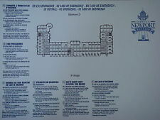Plan original Hotel Disney Newport Bay Club - 8 D complet  DISNEYLAND Paris NEUF