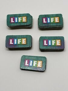 Monsters Inc Game of Life 47 Life Tiles Cards Replacement Part Disney Board Game