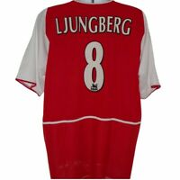 2002-2004 Arsenal #8 Ljungberg Home Football Shirt, Nike, XL (Excellent)