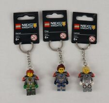LEGO - NEXO Knights Keyring Key Chain Minifigures Tags Aaron Lance Clay Set of 3