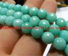 Perfect AAA+++ 8mm Faceted Brazilian Aquamarine Gemstones Loose Beads 15""