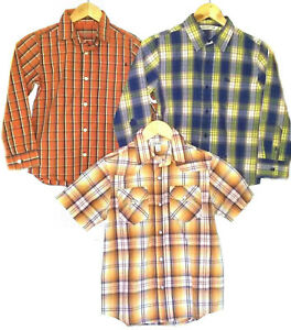 CARTER'S & OLD NAVY ~LOT OF 3 BUTTON-DOWN FALL SHIRTS~ BOYS 7/8