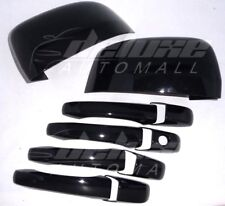 BLACK Package Mirror + Door Handle Covers FOR Jeep Grand Cherokee Dodge Durango