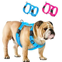 Reflective No Pull Dog Harness Adjustable Plush Padded Vest Small Large Labrador