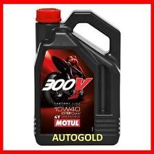 MOTUL 300V (4 Lt) 10W-40 OLIO 4T 100% ESTERE 10W40 Factory Line EsterCore motore