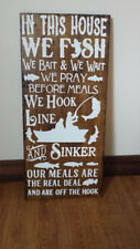 In This House We Fish Sign, Fishing Sign, Outdoors sign, man cave sign, fisherma