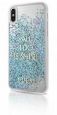 Genuine Guess Glitter Blue Hard Case For iPhone X